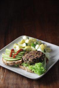 healthy food protein hamburger