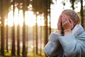stressed surprised women