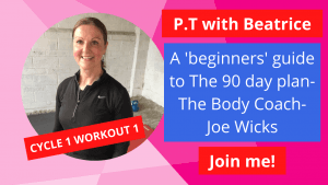 Cycle 1 Workout 1 90 day body coach joe wicks